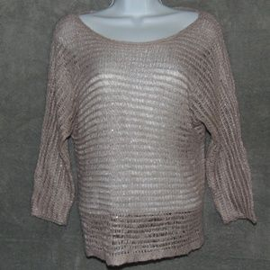 Ann Taylor sheer cable knit sweater small